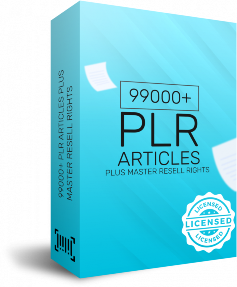 99000 PLR Articles Plus Master Resell Rights